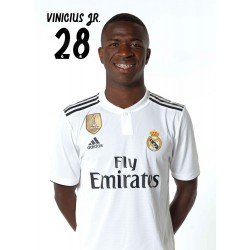 Postal Real Madrid 2018/2019 Vinicius Jr Busto Mundialito