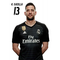 Postal Real Madrid 2018/2019 K. Casilla Busto Mundialito