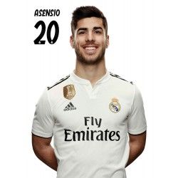 Postal Real Madrid 2018/2019 Asensio Busto Mundialito