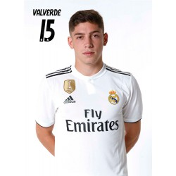 Postal Real Madrid 2018/2019 Valverde Busto Mundialito