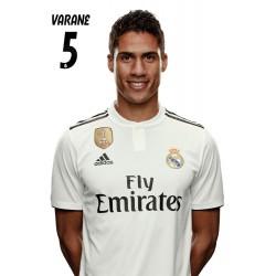 Postal Real Madrid 2018/2019 Varane Busto Mundialito