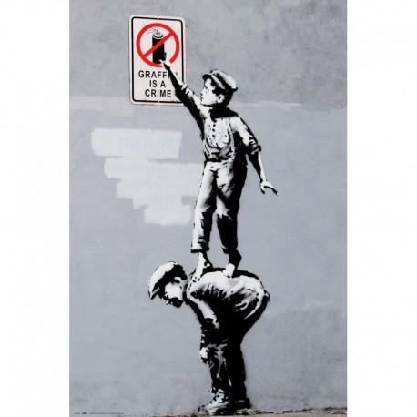 Poster Brandalised Grafitti Is A Crime