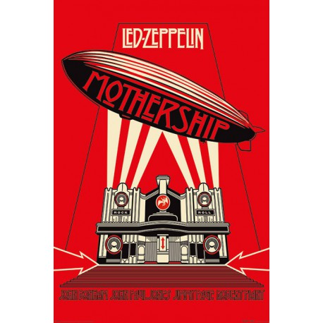 Poster Led Zeppelin Mothership Red