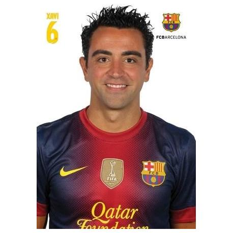 Postal A4 F.C. Barcelona Xavier Hernandez 2012