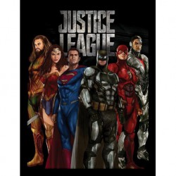 Print Enmarcado 30X40 Dc Justice League Movie Stand All