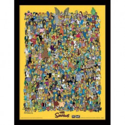 Print Enmarcado 30X40 The Simpsons Characters