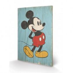 Cuadro Pequeño Madera 40X59 Mickey Mouse Retro