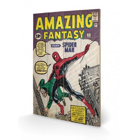 Cuadro Pequeño Madera 40X59 Spiderman Amazing Fantasy