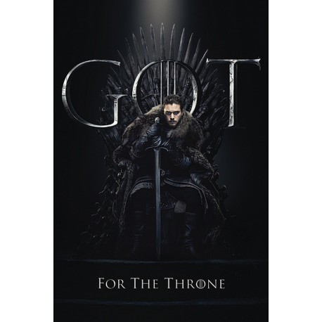 Poster Game Of Thrones Jon For The Throne