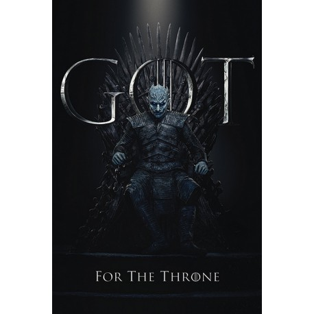 Poster Game Of Thrones The Night King For The Throne