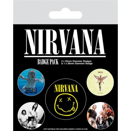 Pack Chapas Nirvana