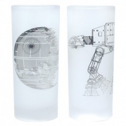 Vasos Set De 2 Star Wars Death Star & At At Walker