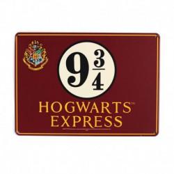 Chapa Metalica Pequeña Harry Potter Hogwarts Express