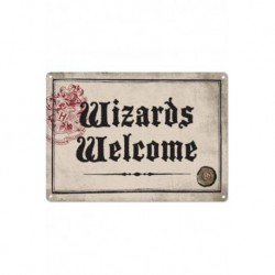 Chapa Metalica Harry Potter Wizards Welcome