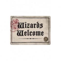 Chapa Metalica Harry Potter Wizards Welcome