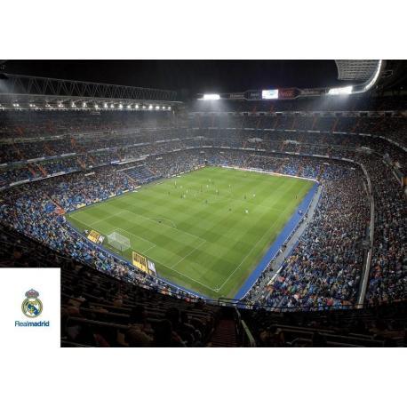 Postal A4 Real Madrid Santiago Bernabeu Interior