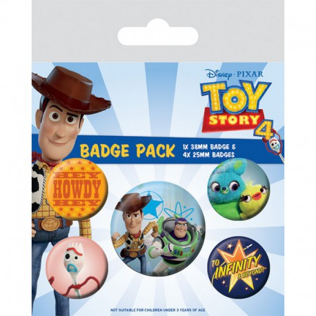 Pack Chapas Toy Story 4 Friends For Life