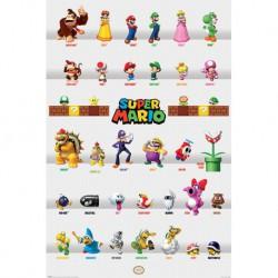 Poster Super Mario Character Parade