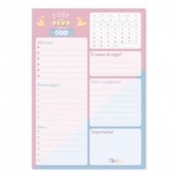 Bloc Notas De Escritorio Carouge Blue & Pink Ita
