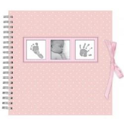 Scrapbook Album Foto 10X15Cm 25 Bolsillos Baby Polka Pink