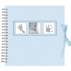 Scrapbook Album Foto 10X15Cm 25 Bolsillos Baby Polka Blue