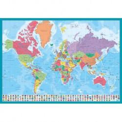 Vade de Escritorio Escolar Mappa Del Mondo