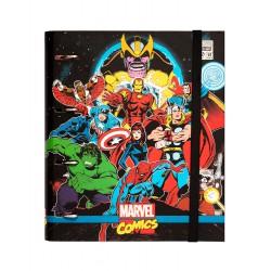 Carpeta 4 Anillas Troquelada Premium Marvel Comics Avengers