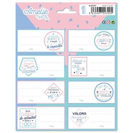 Etiquetas Escolares Amelie Pastel Collection