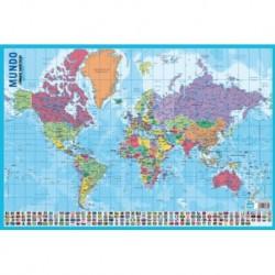 Lamina Didactica Portugues Mapa Do Mundo