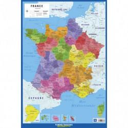 Lamina Educativa Frances Carte De France 2017