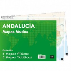 Pack 10 Mapas Mudos Es Andalucia Politica Fisica