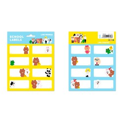 Etiquetas Escolares Line Friends
