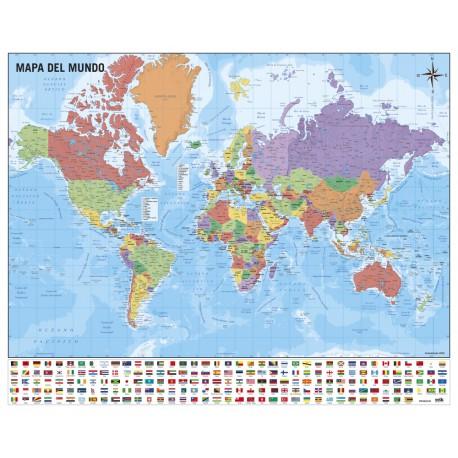 Mini Poster Mapa Del Mundo