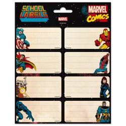 Etiquetas Escolares Marvel Comics Avengers
