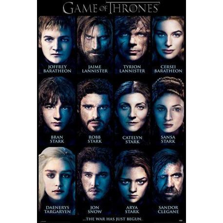 Poster Personajes Juego de Tronos