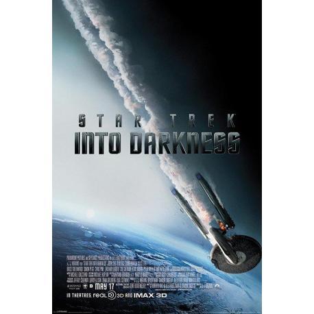 Poster Star Trek En La Oscuridad Enterprise Ardiendo