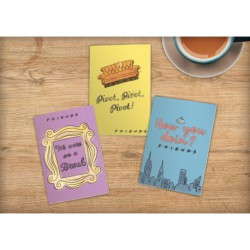 Cuadernos A5 Set De 3 Friends