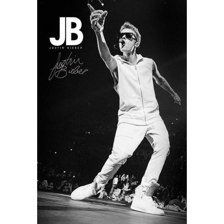 Poster Justin Bieber Blanco y Negro