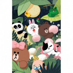 Poster Line Friends Jungle