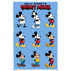 Poster Disney Mickey Mouse Evol