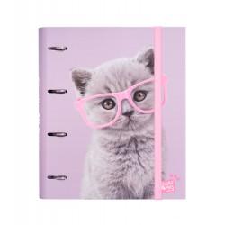 Carpeta 4 Anillas Troquelada Premium Studio Pets Cats 2019