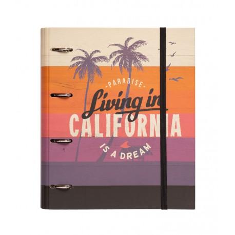 Carpeta 4 Anillas Troquelada Premium California