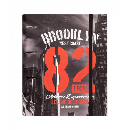 Carpeta 4 Anillas Troquelada Premium New York Colour