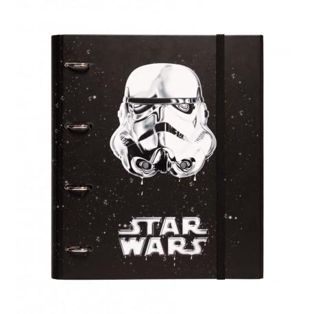Carpeta 4 Anillas Troquelada Star Wars Classic Trooper
