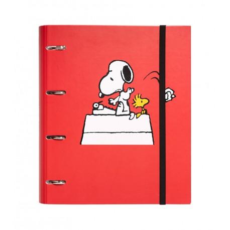 Carpeta 4 Anillas Troquelada Premium Snoopy