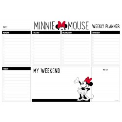 Bloc Planificador Semanal A4 Minnie Mouse Rocks The Dots