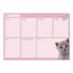 Bloc Planificador Semanal A4 Studio Pets Cats 2019