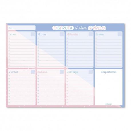 Bloc Planificador Semanal A4 Amelie Pastel Collection