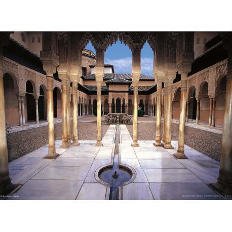 Poster Monumento Granada Alhambra Patio de los leones