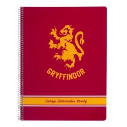 Cuaderno Tapa Polipropileno A4 Pautado Microperforado Harry Potter Gryffindor
